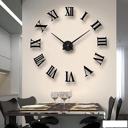 Z@SS 3D Minimalist Oversized Watch Creative Wall Clock Living Room DIY Art  Wall