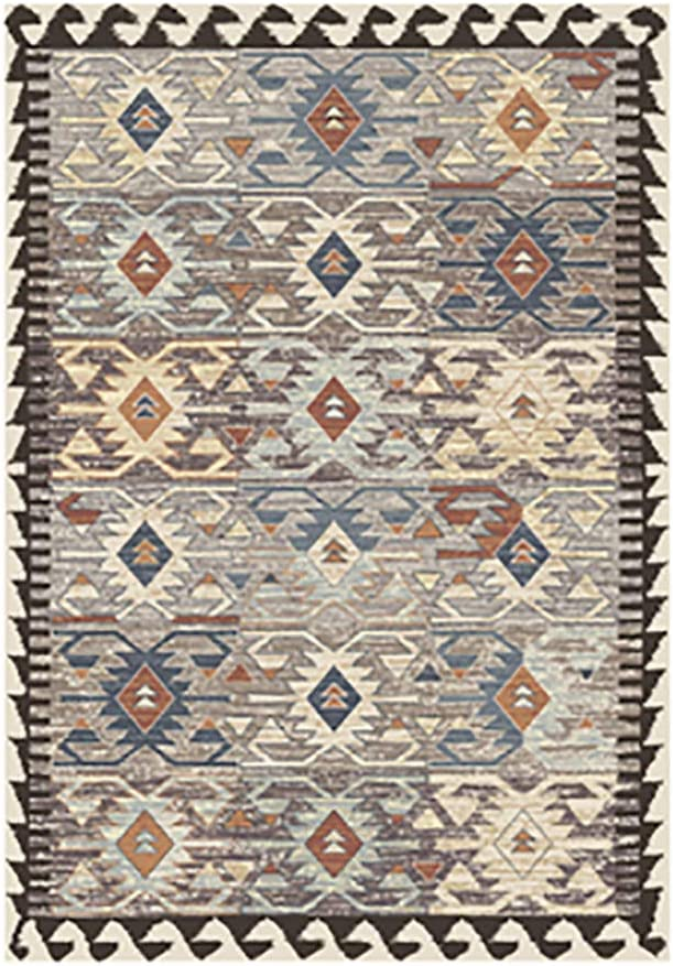 Printed Area Rug, Retro Runner Rug Anti-Slip Chic Floor Carpet Rectangular Washable Multicolor for Bedroom Living Room-d 79x118inch(200x300cm)