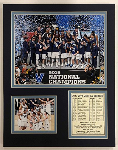 "Legends Never Die 2017-2018 Villanova Wildcats Champions - Podium - 11"" x 14"" Unframed Matted Photo Collage by, Inc."