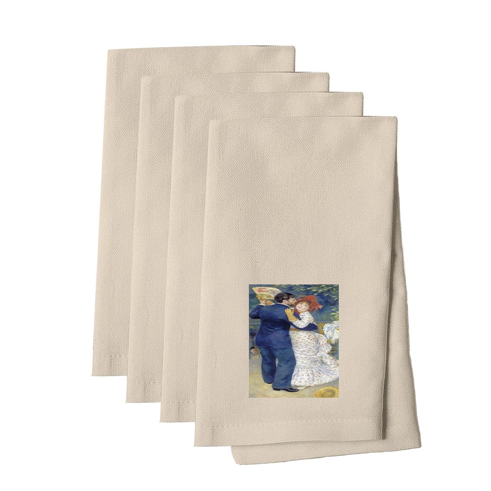 Style in Print Country Dance (Renoir) Cotton Canvas Dinner Napkin, Set of 4 by Style in Print (Image #1)