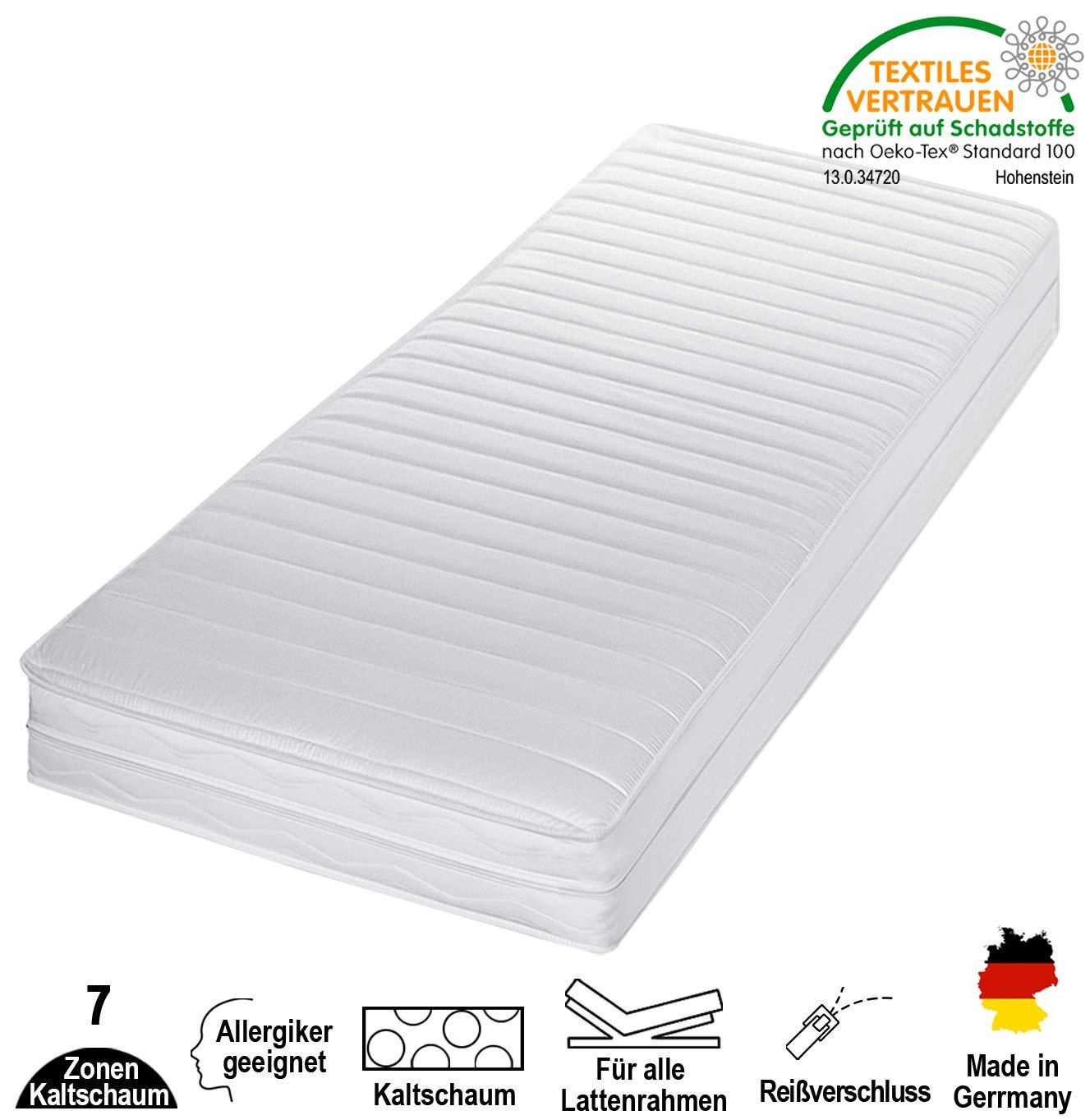 Cpt hydrovital 7 Zonen Premium Kaltschaummatratze - Matratze Härtegrad 2in1 H2 & H3 - Rollmatratze (80 x 200 x 16 cm, H2 & H3)