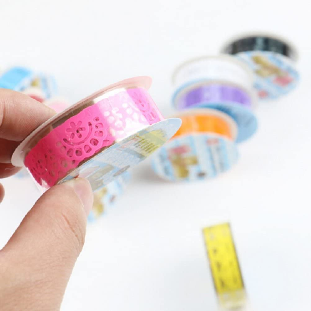 ULTNICE Washi Masking Tape Decorative Stickers DIY Soft Candy Colorful Tape 12Pcs