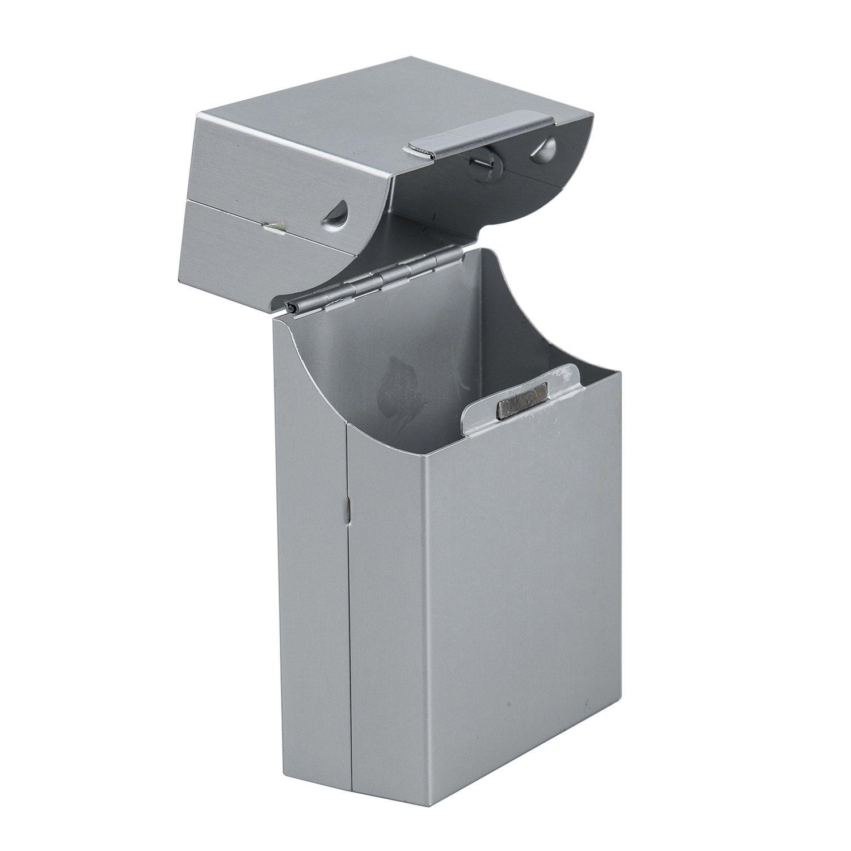 SODIAL (R) Magnetic King Size Metallo Alluminio Pocket sigaretta Cigar Box Tabacco Caso Holder - Argento SODIAL(R) 015401C0