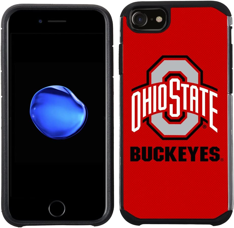 Prime Brands Group Textured Team Color Cell Phone Case for Apple iPhone 8/7/6S/6 - NCAA Licensed Ohio State University Buckeyes (NCAA-TX1-i8-OH)