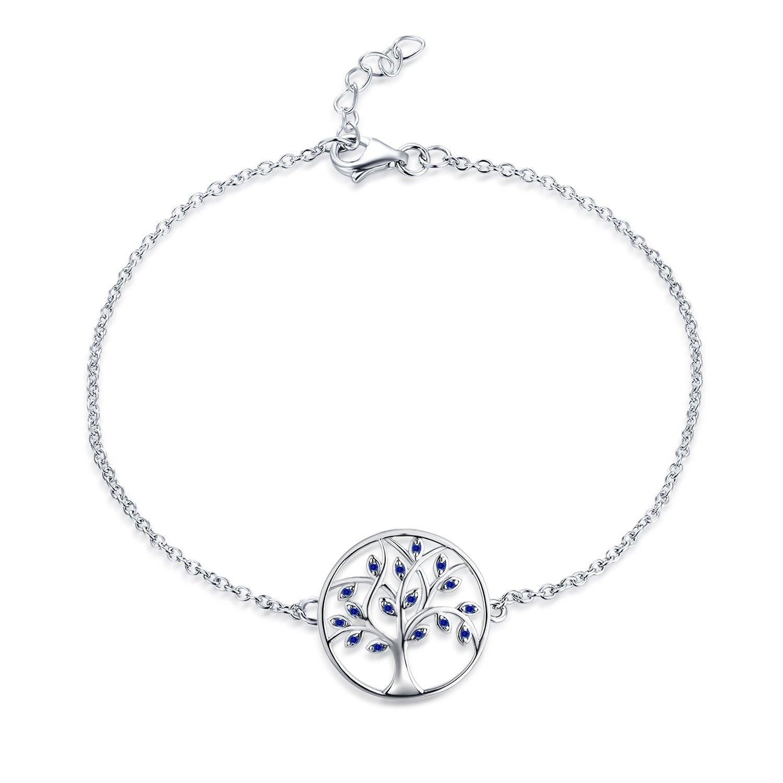 Jo saggezza donne braccialetto,925in argento Sterling dell' albero della vita bracciale, 20cm YH Jewelry HB122C0H1