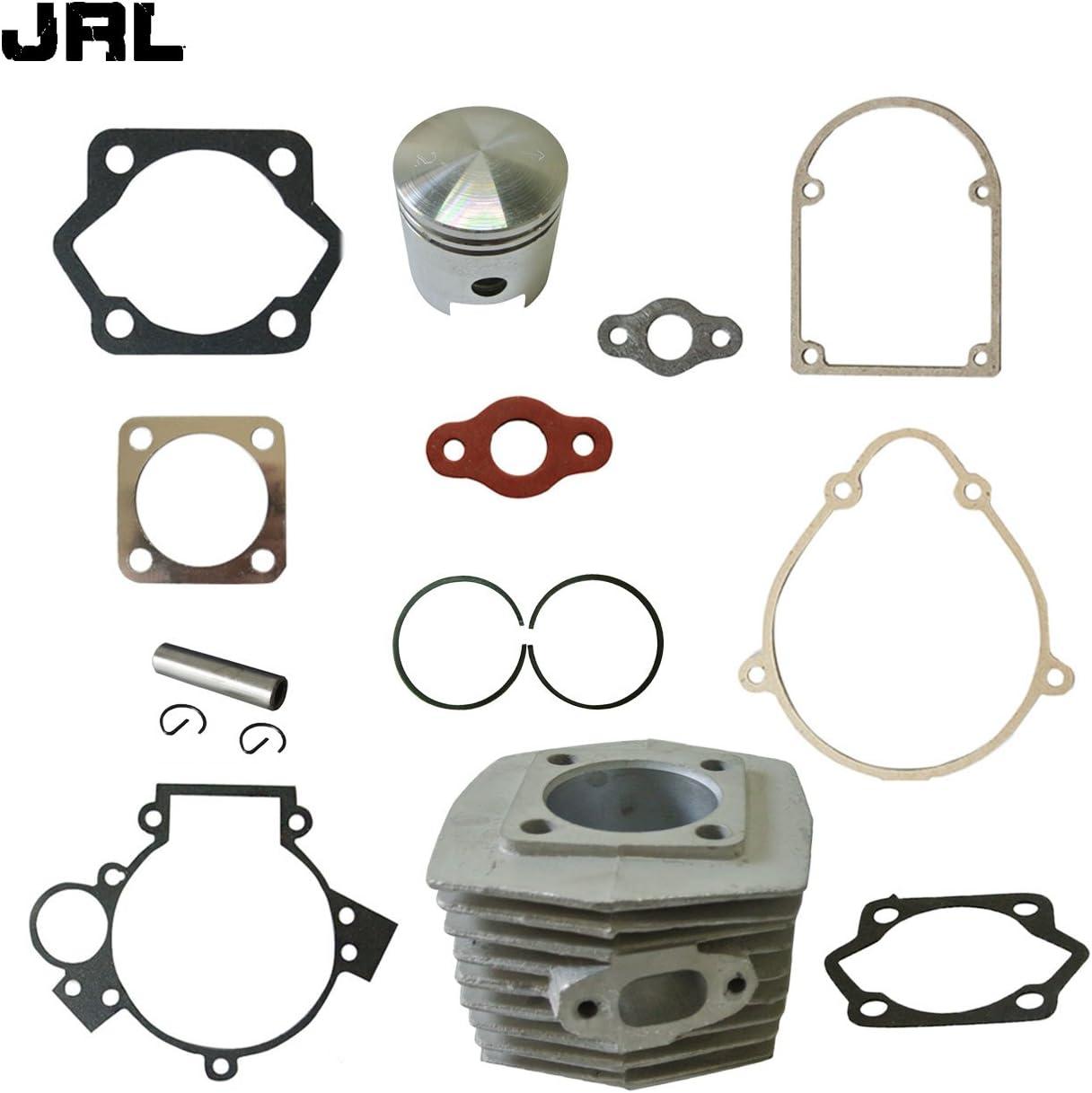 Pistoni E guarnizioni per Motore da Bicicletta motorizzata da 80/CC /Set di cilindri JRL broadcare Rasoio/