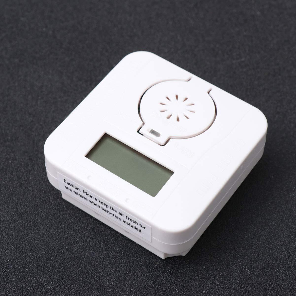 LIOOBO Detector de Alarma de mon/óxido de Carbono de 1 pc Detector de Fugas de Carbono y Gas Sensor de Gas Natural de Alta sensibilidad Alarma de Gas Explosivo