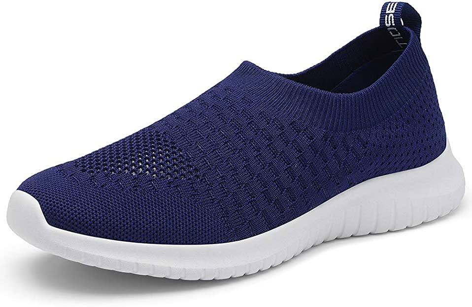 TIOSEBON Women's Walking Shoes Lightweight Breathable Yoga Travel Sneakers 11 US Navy
