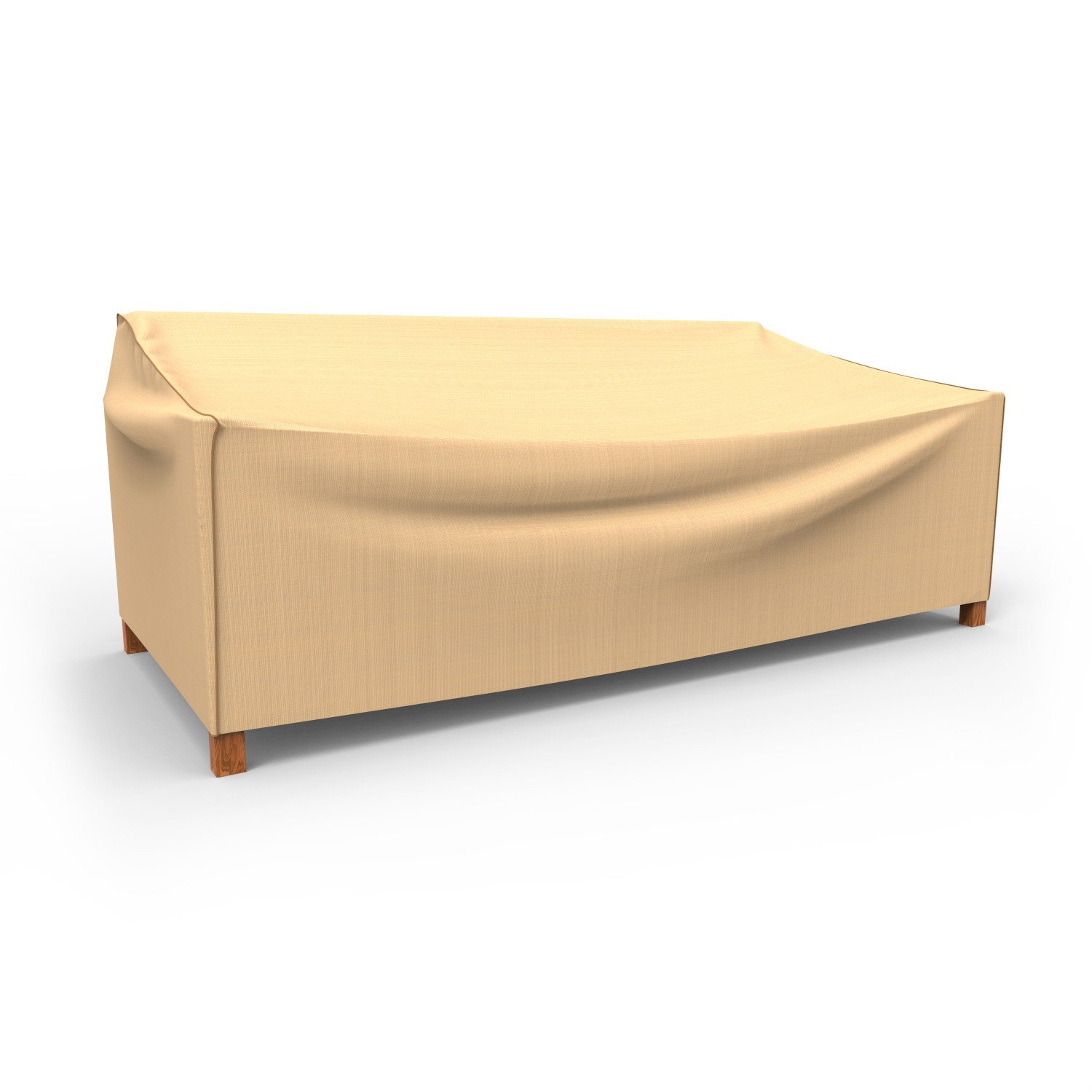 Budge P3W05TNNW1 Outdoor Patio Sofa Cover-Extra Large Waterproof, Durable, XL, Tan
