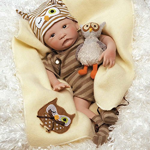 Real Boy Doll - Paradise Galleries Hoot! Hoot! Baby Doll That Looks Like a Real Baby, 16 inch Vinyl - Preemie Reborn Boy, Safety Tested for Age Kids 3+, 6-Piece Gift Set
