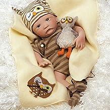Paradise Galleries Hoot! Hoot! Baby Doll that Looks like a Real Baby, 16 inch vinyl - Preemie Reborn Boy