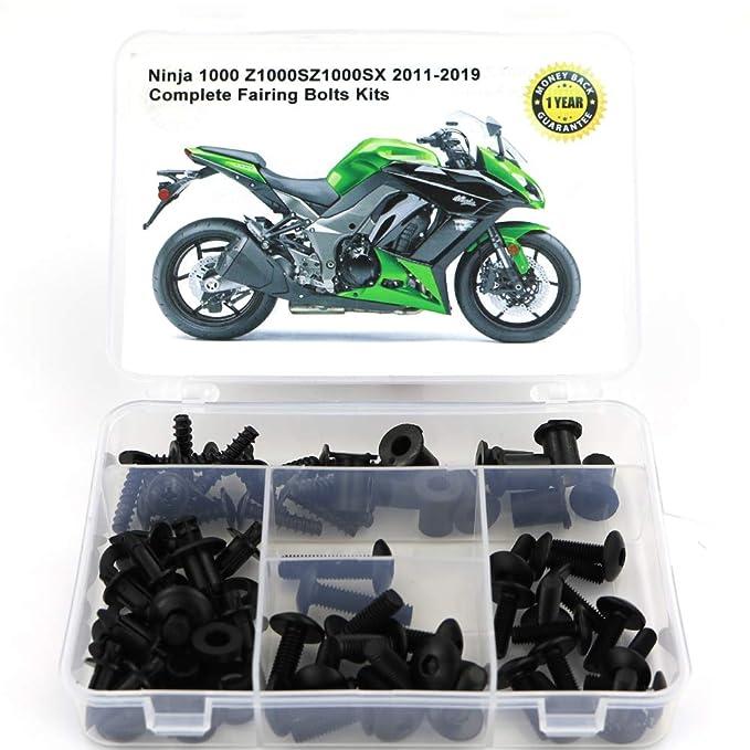 for Kawasaki Z1000 2014 2015 2016 2017 2018 2019 Mounting Kits Washers//Nuts//Fastenings//Clips//Grommets Xitomer Full Sets Fairing Bolts Kits Matte Black