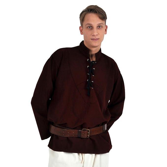 Traje Medieval - Camisa Hombre - Mangas anchas - Color ...