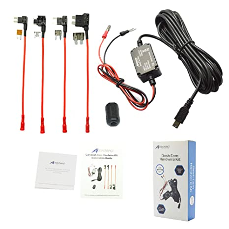 Meknic SV-PC01 Dash Cam Hardwire Fuse Kit with Hard Wire Car Charger on