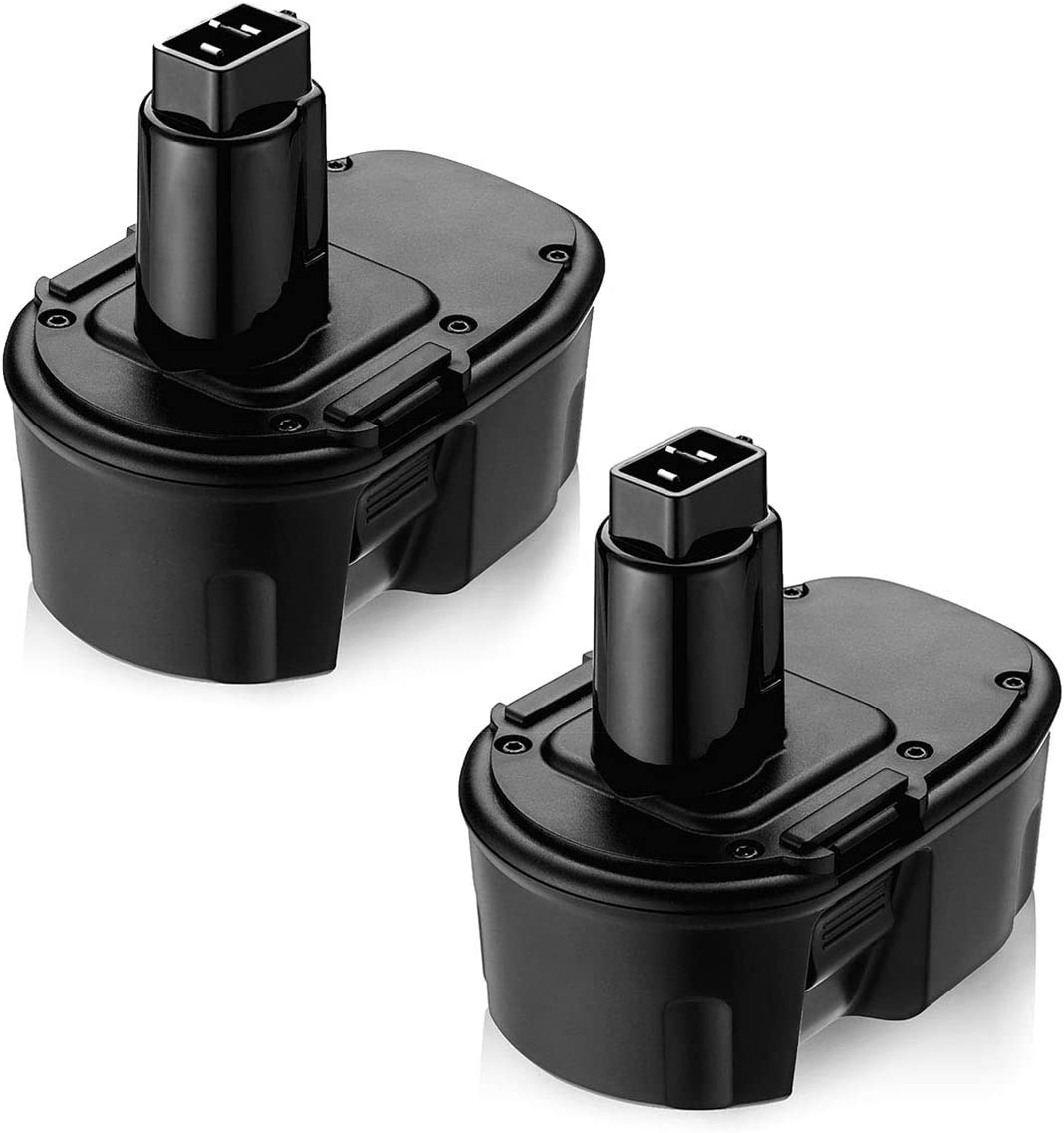 14.4V Replacement Battery Compatible with Dewalt 14.4V Battery Ni-MH DW9091 DW9094 DE9091 DE9092 DE9038 for Dewalt 14.4V Cordless Power Tool 2 Packs