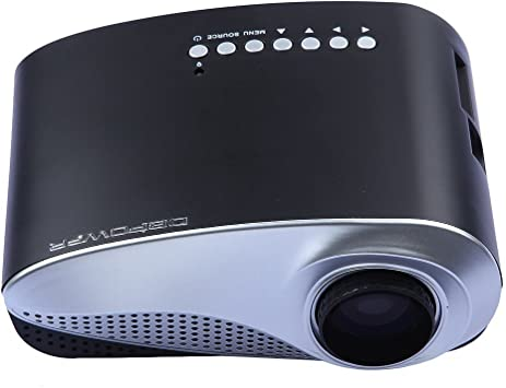 Amazon Com Dbpower Multimedia Portable Mini Led Projector With Usb Vga Hdmi Av For Party Home Entertainment Support 19201080 1080p 20000 Hours Led Life With Remote Control Electronics