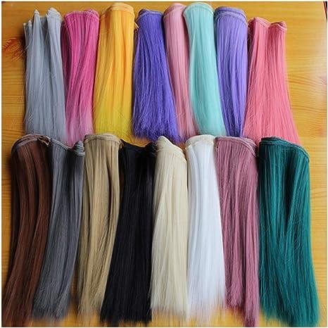 15x100cm Long Curly Hair Wig DIY Making Supply For BJD Doll Girl/'s Princess Gift