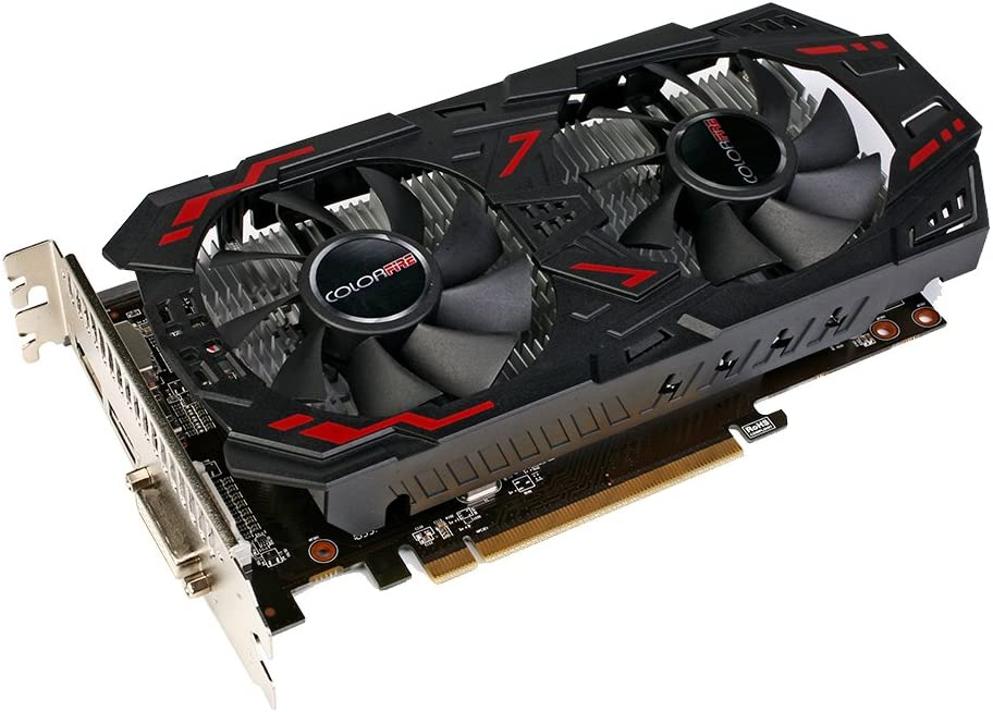 Colorfire AMD Radeon RX 460 GPU 4GB 4096M 128bit Gaming GDDR5 PCI-E X16 3.0 VR Ready Video Graphics Card DP+HDMI+DVI Port with Two Cooling Fan