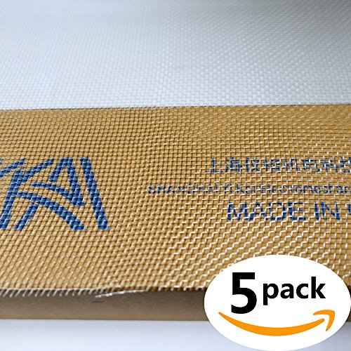 """(Pack of 5) Nylon 6/6 Woven Mesh 10 Mesh inch, Opaque Off-White, 12"""" Width, 24"""" Length0.56 μm Wire Diameter"""