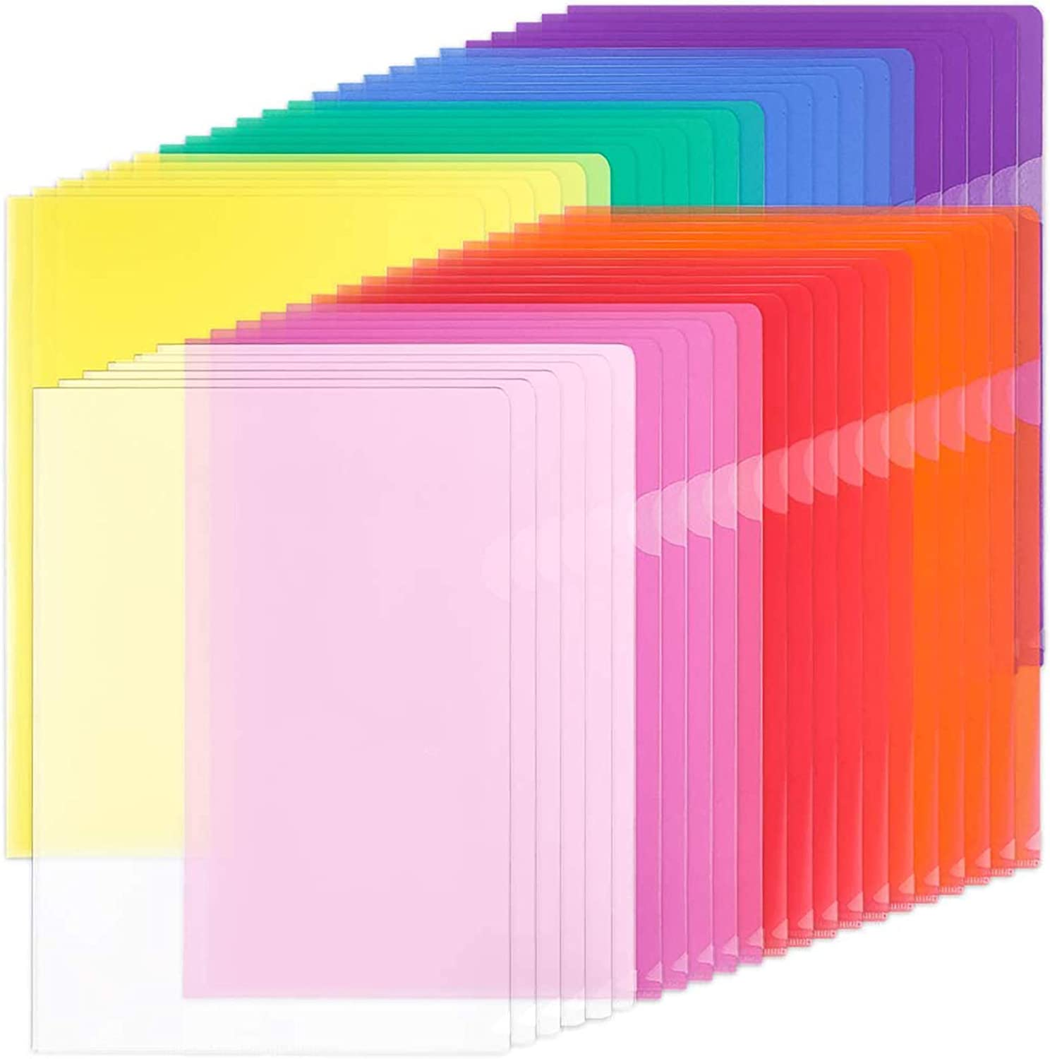 Clear Document Sleeves Pockets A4 45mic Transparent High Quality Pack of 100