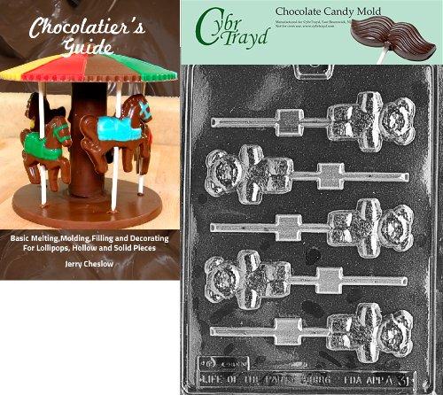Cybrtrayd Bk-A031 Teddy Bear Lolly Animal Chocolate Candy Mold