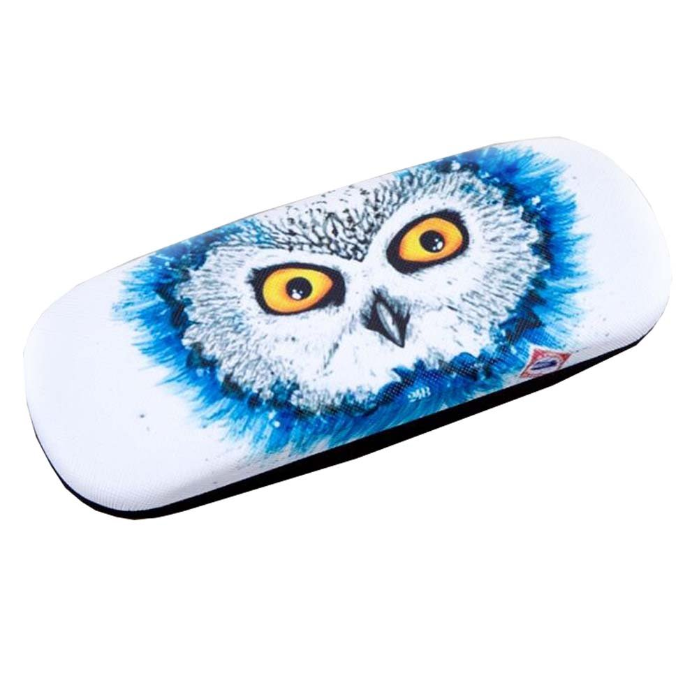 Owl Pattern Hard Glasses Clam Shell Style Child Glasses Case