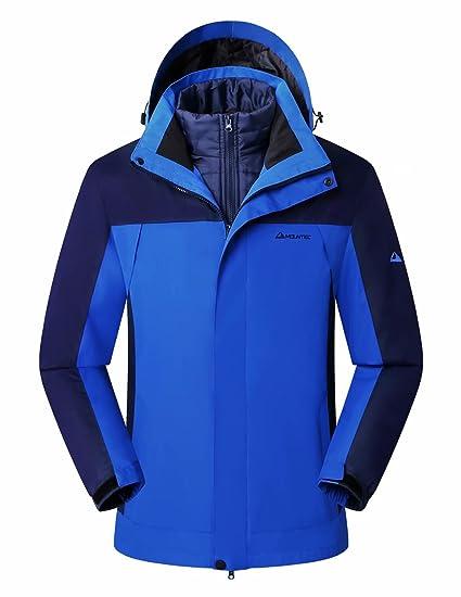 24ea0c22e741 MOUNTEC 3in1 Men s Waterproof Outdoor Jacket with Removable Quilted Inner  Coat