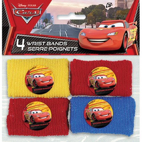 Wristbands Cars (Disney Cars Wrist Bands - Party Favors - 4 Per Pack by SmileMakers)