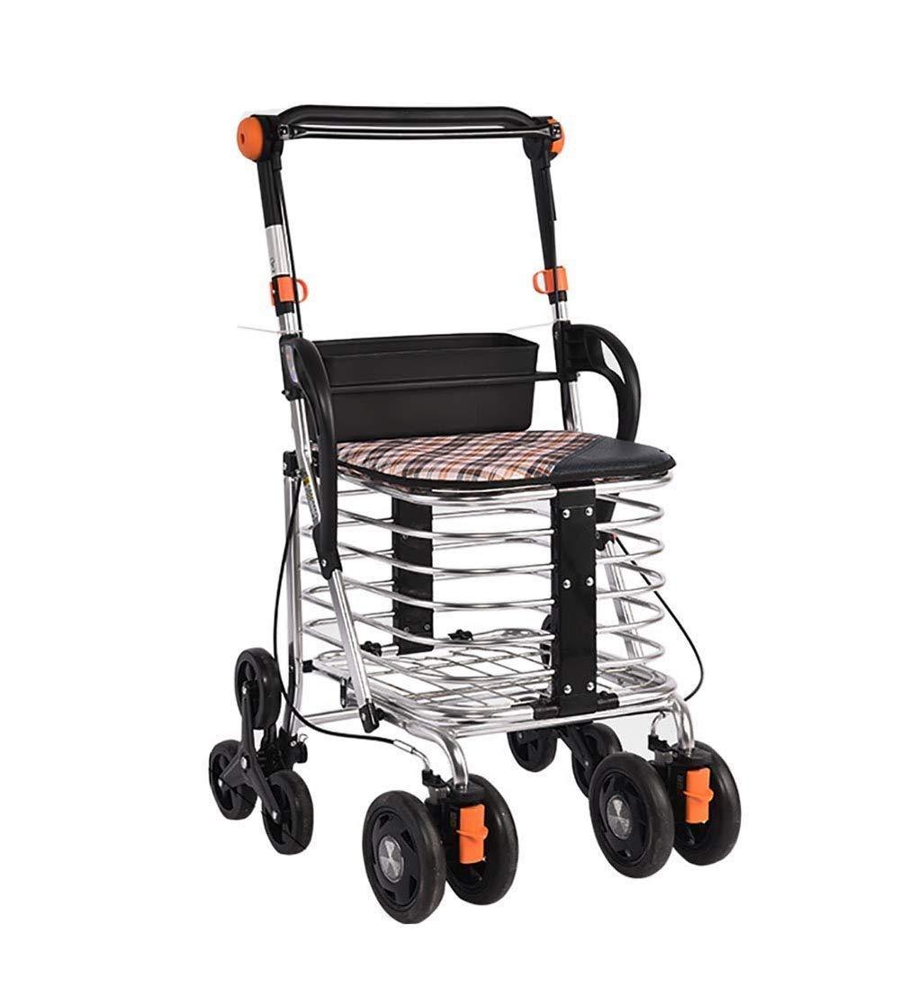 Walker Andador Plegable De 4 Ruedas De Aluminio con Freno ...