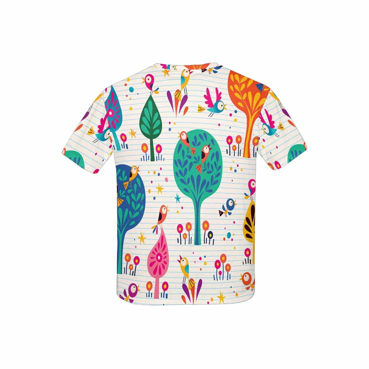 INTERESTPRINT Birds in The Trees Nature Lined Unisex Kids T-Shirts XS-XL