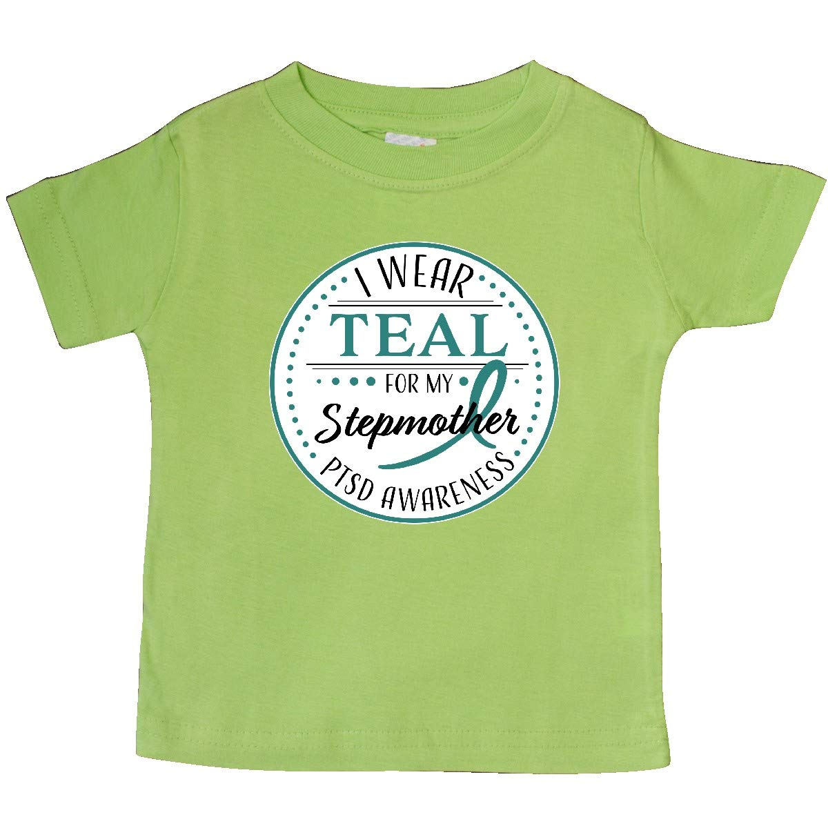 PTSD Awareness Baby T-Shirt inktastic I Wear Teal for My Stepmother