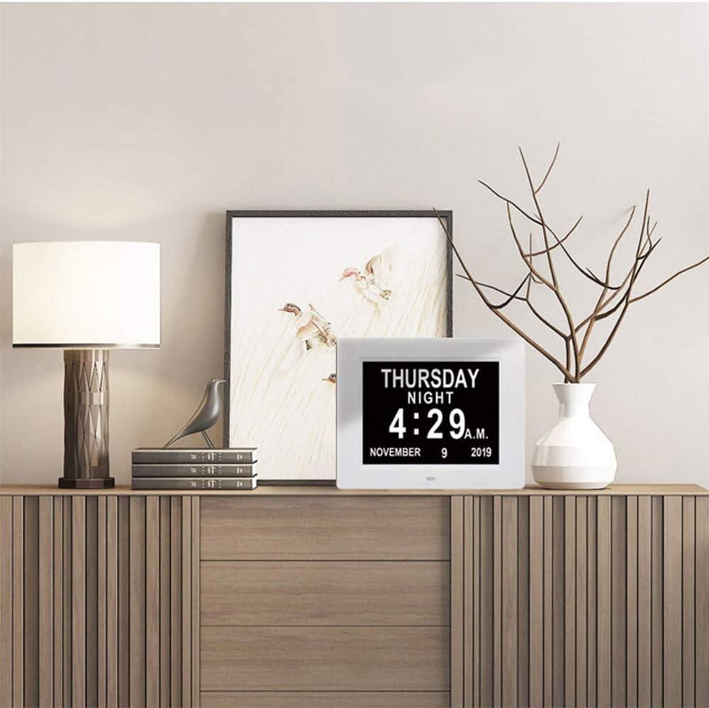 Jour Et Heure Horloge pour Les Seniors,Cest pour Les Parents XITIME 8 LCD Horloge Num/érique Calendrier avec Date Horloge Alzheimer Horloge Calendrier avec Date