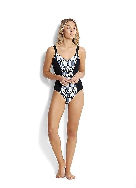 Amazon.com: Seafolly Women s DD taza traje de baño de una ...