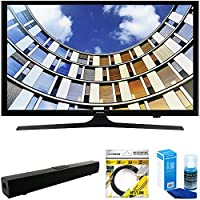 Samsung Flat 43 LED 1920x1080p 5 Series Smart TV 2017 Model (UN43M5300AFXZA) with Solo X3 Bluetooth Home Theater Sound Bar, 6ft HDMI Cable & Universal Screen Cleaner for LED TVs Large Bottle