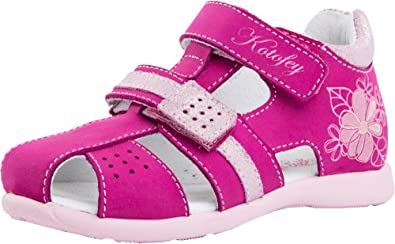 cb38e506c9978 Kotofey Girls Sandals 322047-21 Orthopedic, Leather Summer Sandals with  Arch Support (Toddler