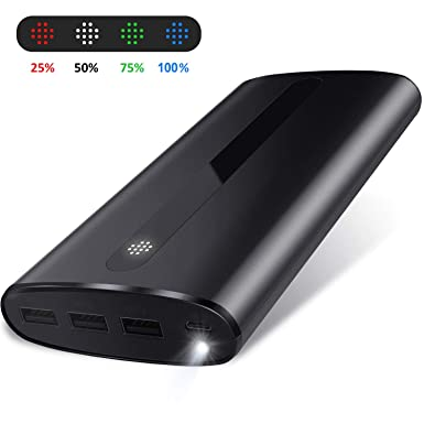 07a508fed3c75b Todamay Power Bank 24000mAh Portable Charger External Battery with 2.1A  Input Port, LED Lights