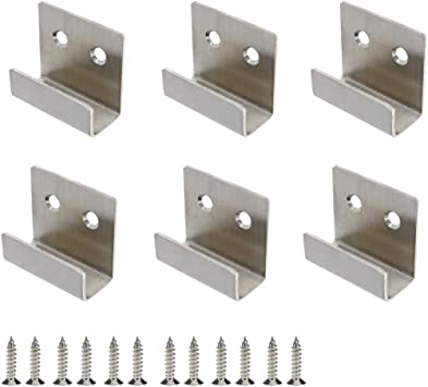 rannb stainless steel wall hanger fastener bracket for ceramic tile display pack of 6