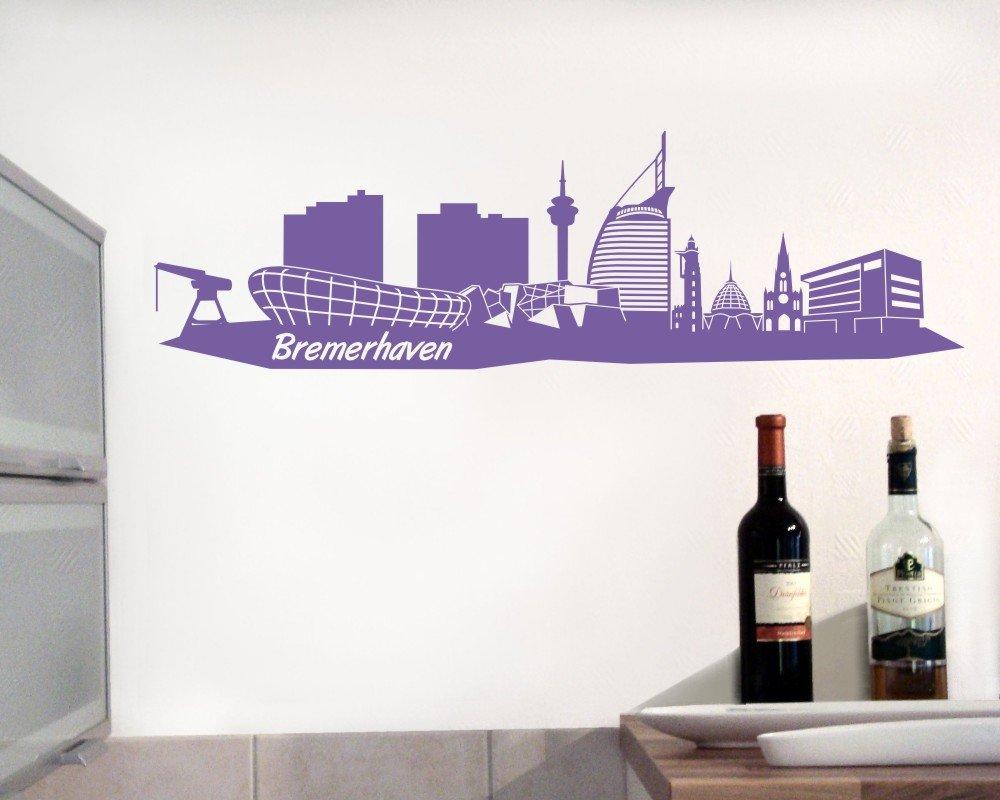 plot4u Wandtattoo Bremerhaven Skyline Wandaufkleber in 5 Größen und ...
