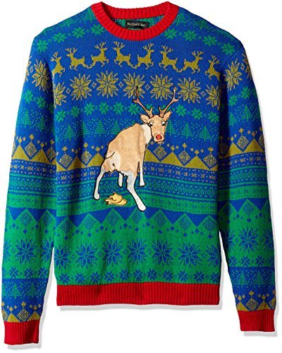 Blizzard Bay Men's Sick Reindeer Ugly Christmas Sweater, for sale  Delivered anywhere in USA