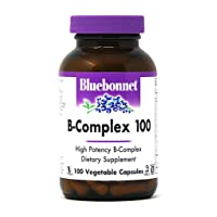 Bluebonnet Nutrition B Complex 100 Vegetable Capsules, Complete Full Spectrum, Vitamin...