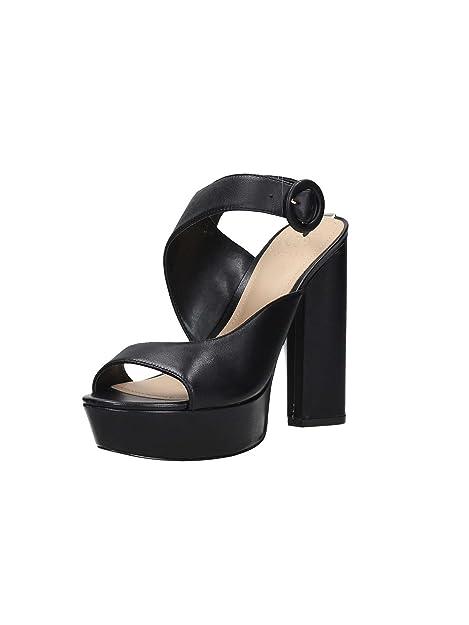 5fd70cea Guess Mujer de Negro Sandalia con Tacón Alto y Plataforma Artículo FLMA22  LEA03 Colección Negro Nueva Primavera Verano 2018: Amazon.es: Zapatos y ...