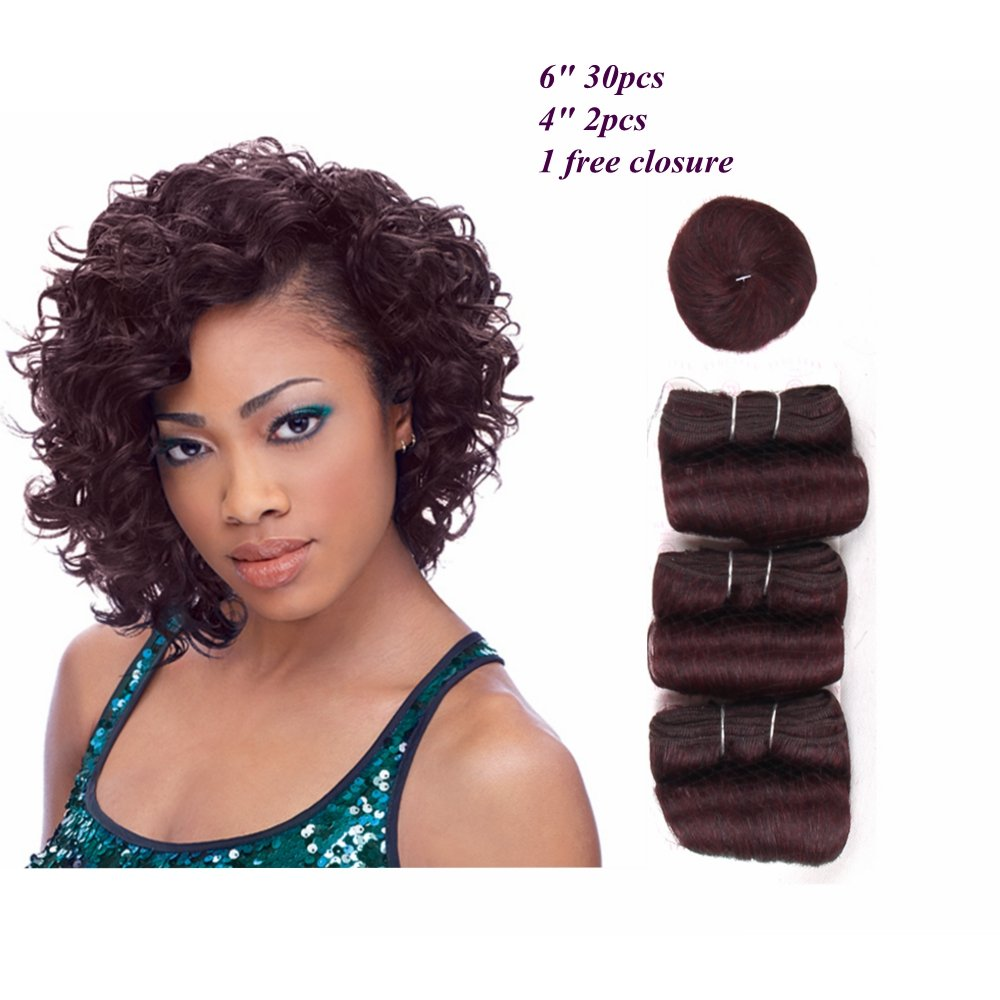 Amazon Hair Way Short Human Hair Weave 33 Pieces With Free