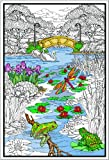 Stuff2Color Pond in the Park - Giant 22 X 32.5 Inch Line Art Coloring Poster (Great for Family Time, Adults, Kids, Classrooms, Care Facilities and Group Activities)