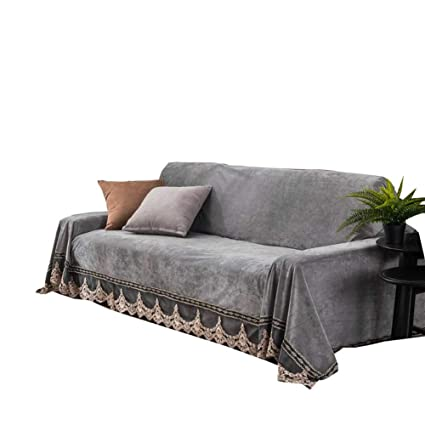Amazon.com: Zzy Plush Sofa slipcover, Vintage lace Suede ...