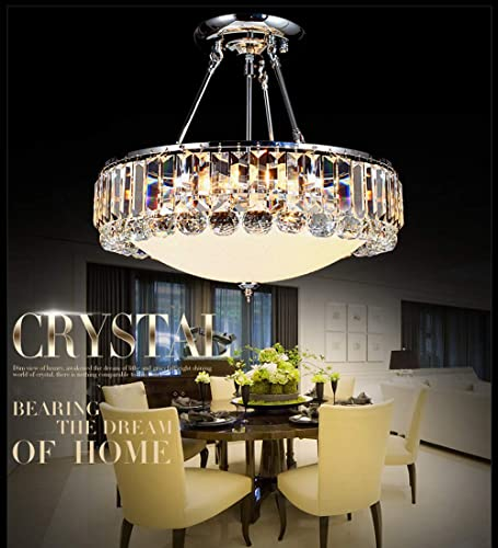 Sky Demons Modern K9 Crystal Chandelier Minimalist Pendant Light Chrome Crystal Ceiling Light