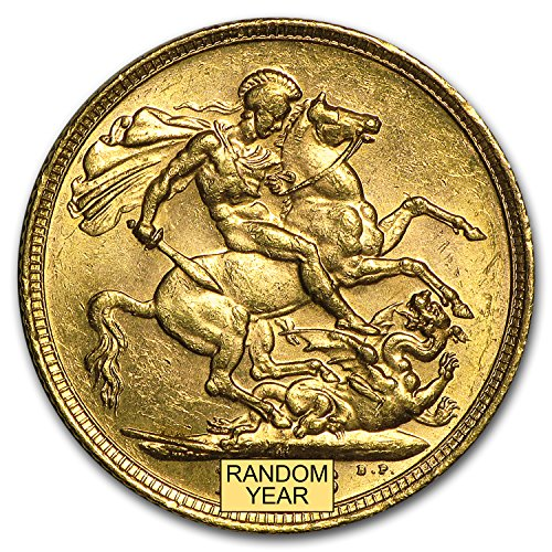 1902 AU - 1910-M Australia Gold Sovereign Edward VII AU Gold About Uncirculated