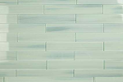 Light Blue Off White Vesper Glass Subway Tile For Kitchen Backsplash Or Bathroom From Bodesi