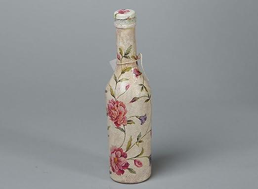 Botella decorativa artesanal en tecnica de decoupage: Amazon.es: Hogar