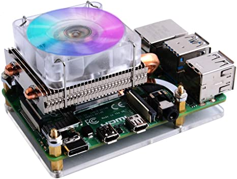 GeeekPi Raspberry Pi Low Profile CPU Cooler, Raspberry Pi ...