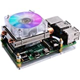 GeeekPi Raspberry Pi 4 Fan, Raspberry Pi Low-Profile CPU Cooler with RGB Cooling Fan and Raspberry Pi Heatsink for…